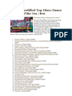 700 DJ Certified Top Disco Dance Songs of the 70s