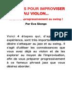 PDF 4 Étapes Pour Improviser Au Violon... Et Arriver Progressivement Au Swing