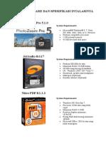 5 Software Dan Spesifikasinya