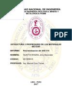 2do Informe Estructura y Propiedad de Los Materiales 1