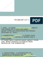 vocabulary list 3