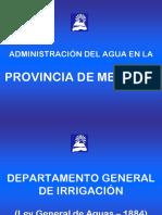 Administración del Agua en Mendoza.ppt