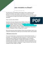 Ministerios Do Brasil - Ficções