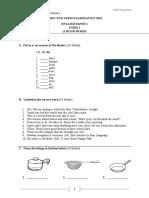 Form 1 English PT3 Format