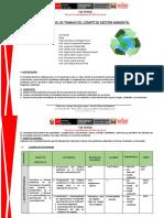 Plan Comité de Gestión Ambiental