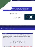 """Application des réseaux de Kohonen au """"clustering"""" de collections musicales"""