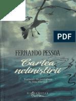Cartea Nelinistirii Fernando Pessoa 2012