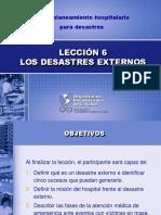 Los desastres externos