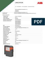 1SDA058254R1 Pr120 d m Communication Module e1 6