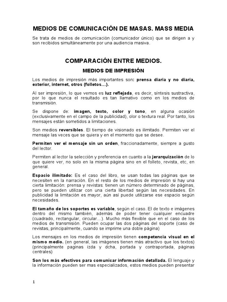 MEDIOS DE COMUNICACIÓN DE MASAS