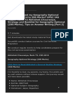 How I Increased My Geography Optional Marks From 214 to 295 Marks_ UPSC IAS Topper Rank-72 Abhishek Chourasiya_ Strategy and Booklist for Geography Optional (295 Marks)_ Tips on Answer Writing _Part 2