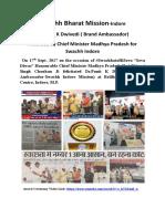 Dr.Punit K Dwivedi Brand Ambassador Swachha Indore (SBM)