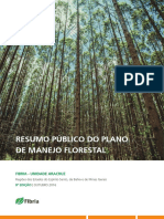 Resumo Plano de Manejo Florestal_Unidade Aracruz