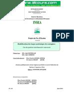 Modelisation Du Risque Systemique de Contagion Cas Du Systeme Interbancaire Marocain