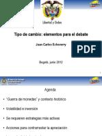 Tipo de Cambio Elementos Para El Cambio Juan Carlos Echeverry