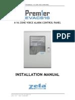 EVACS16 Installation Manual