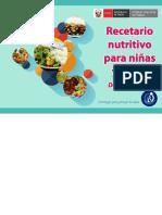 Recetario Para Niños Con Valor Nutritivo