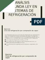 Análsis Segunda Ley en Sistemas de Refrigeración