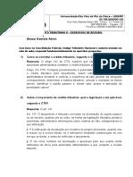 Exercício Direito Tributário II - 25.08.2017
