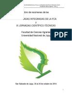 IX Jornadas Cientifico Tecnicas FCA-UNJu 2014