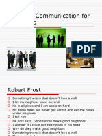Business Communication for Managers- II