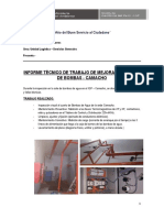 Informe Técnico de Trabajo Del Mes de Julio y Agosto-2017