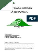 Plan de Manejo Ambiental La Concavita s.a. 2017