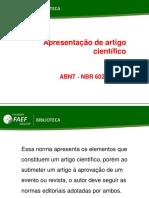 Tipos de Artigos Científicos