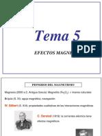 Tema 5 - Efectos Magnéticos