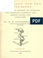An Apology for the Septuagint (Grinfield, 1850)