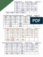 Cronograma Regular Md a Usamedic 2017