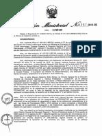 Resolución ministerial 0257- 2013 del Minedu