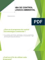 Programa de Control Microbiológico Ambiental