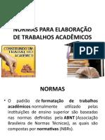 Aula 3- Normas Utfpr Elementos Pré-textuais 01-2017