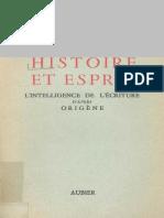Henri de Lubac-Histoire Et Esprit _ l'Intelligence de l'Écriture d'Après Origène-Aubier (1981)