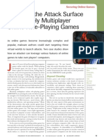 Reducing the Attack Surface in Massively Multiplayer Online Role-Playing Games