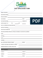 Sundale Foods Credit Applicaton Form-30 Days -2017