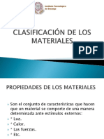 Clasificación de Los Materiales