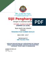 Sijil Watikah Perlantikan Pengawas Pss 2017