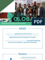 Portafolio de Emprendedor Global Aiesec Alessandra Castro