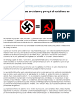 George Reisman - Por Qué El Nazismo Era Socialismo y Por Qué El Socialismo Es Totalitario