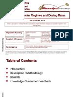 Filter Powder Regimes and Dosing Rates