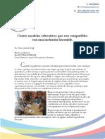 4 Modelos Educativos Para Una Inclusion Favorable (Edicion)}