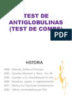 Test de Antiglobulinas (Test de Combs)