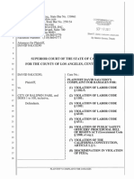 David Salcedo's complaint for damages
