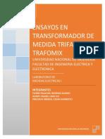 ENSAYOS EN TRANSFORMADOR DE MEDIDA TRAFOMIX
