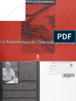 CÁCERES, Osvaldo La Arquitectura de Chile Independiente