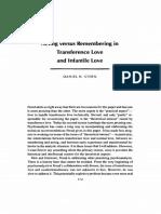 Daniel Stern - Acting versus Remembering.pdf