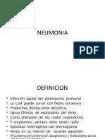 NEUMONIA Presntacion Patologia