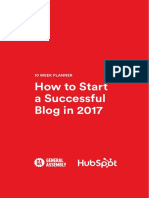 How to Launch a Successful Blog in 2017 Planner